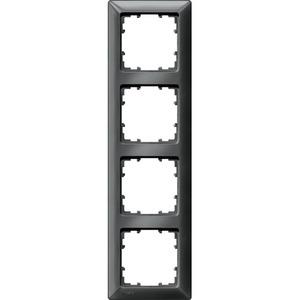 4-fach Rahmen DELTA line carbon-metallic 293x80mm
