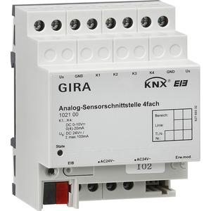 Sensorschnittstelle Analog 4-fach KNX/EIB REG