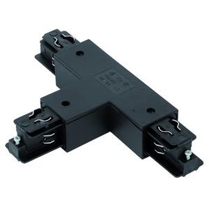 T-Verbindung schwarz links zu 3-Phasen Stromschiene eckig