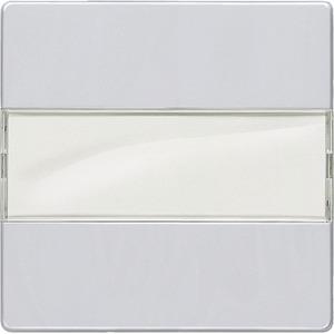 DELTA i-system aluminium-metallic Wippe mit Schild 55x55mm