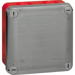 Feuchtraum - Abzweigkasten 105 x 105 x 55 Membran rot/grau 960°