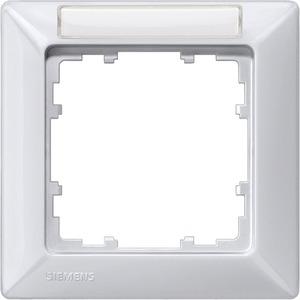 1-fach Rahmen mit Textfeld DELTA line aluminium-metallic 80x80mm