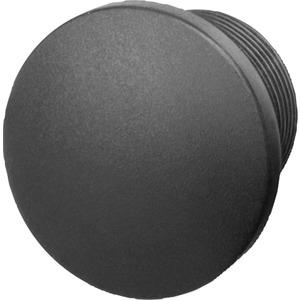 Blindverschluss Kunststoff schwarz 22mm