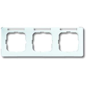 Abdeckrahmen Reflex SI 3-fach Linear waagerecht weiß mit Sichtfenster