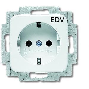 Unterputz Steckdose mit Aufdruck EDV