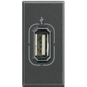 USB-Anschlussdose Anthrazit Axoulute