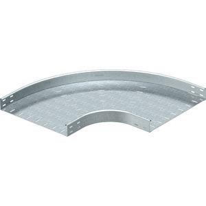 Bogen 90° horizontal runde Bauform Stahl bandverzinkt 60x500 mm