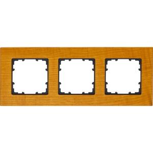 3-fach Holz Rahmen DELTA miro Holzart kirschbaum 232x90mm