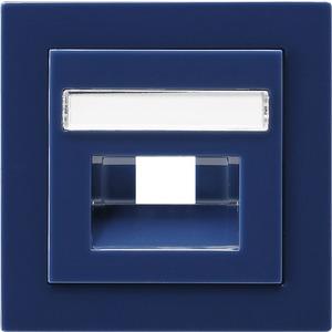 Abdeckung beschriftbar für UAE/IAE/ISDN für S-Color blau