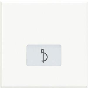"""Symbolwippe für Axialschalter bedruckt mit """"Musik"""" 2-modulig White"""