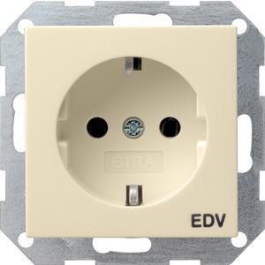 SCHUKO-Steckdose EDV für System 55 cremeweiß