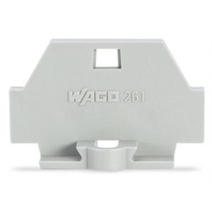 Abschlussplatte mit Befestigungsflansch grau