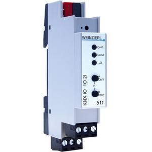 KNX IO511 Schaltaktor 1-fach Binäreingang 2-fach 12-230 V REG
