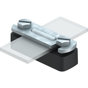 Abstandschelle für Bandstahl 35mm St FT