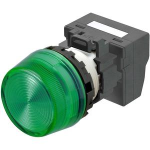 Leuchtmelder M22N Kunststoff Hoch Grün 24V Push-In Plus
