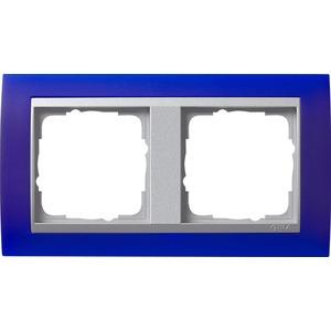 2-fach Abdeckrahmen für Aluminium Event Opak blau