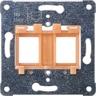 Tragplatte ORANGER Einsatz Aufnahme von 2 modular-Jack-Steckverbindern