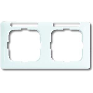 Abdeckrahmen Duro 2000 2-fach Linear waagerecht weiß mit Sichtfenster