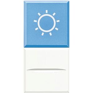 "Axialtaster Beleuchtung blau Symbol""LAMPE"" 1-polig 12V AC 10A White"