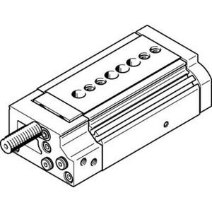 Mini-Schlitten Kugel-Käfig-Führung Baugr. 16 mm / Hub 20 mm P1-Dämpf.