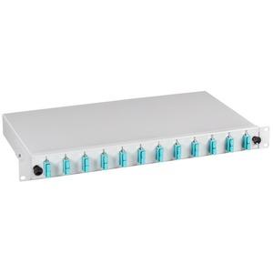 Spleißbox SC / SC 50 / 125µ ausz. 24 Pigtails / 12 Kupplungen