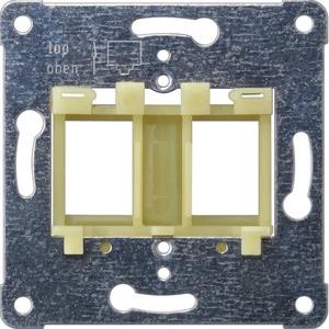 Tragplatte gelber Einsatz zur Aufnahme von bis zu 2 modular-Jack-Steck