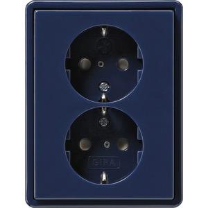 Doppel-SCHUKO KS für S-Color blau
