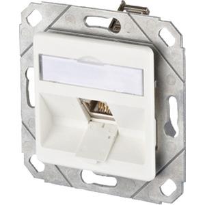 Kommunikationsanschlussdose E-Dat modul 2x8/8 UP Kat6 perlweiß
