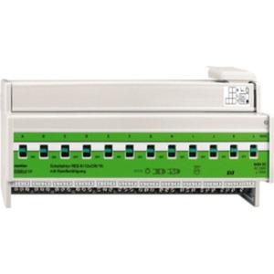 Schaltaktor REG-K/12x230/16 mit Handbetätigung lichtgrau