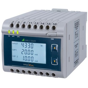 Messumformer für Leistung mit LCD-Anzeige - 2 konf. analoge Ausgänge
