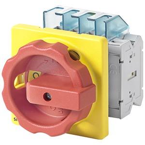 Haupt-/Not-Aus-Schalter 3pol. I16 P/AC-23A bei 400V=7,5kW 1S+1Ö Vier