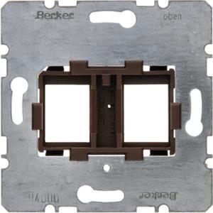 Tragplatte mit brauner Aufnahme 2fach Modul Einsatz
