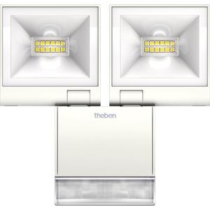 LED-Strahler theLeda S20 20W 4000K IP55 mit Bewegungsmelder weiß