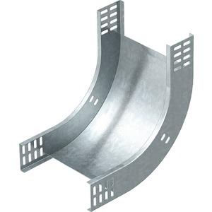 Bogen 90° vertikal steigend Stahl bandverzinkt 60x300 mm