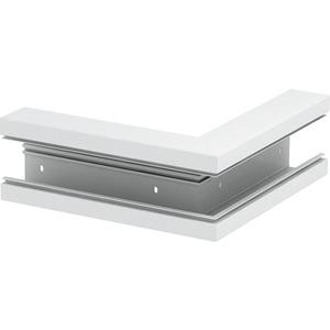 Außeneck 70x130mm PVC cremeweiß RAL 9001