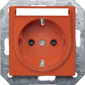 I-System orange (ZSV) Schuko-Steckdose 10/16A 250V Beschriftungsfeld