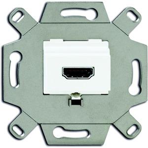 Unterputz Einsatz HDMI-Anschlussdose alpinweiß