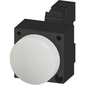 Leuchtmelder 22mm rund Kunststoff Weiss Linse Glatt
