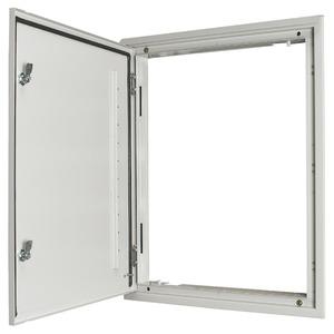 UP Freiluft Türrahmen grau mit Tür und Drehriegelverschluss 600/17