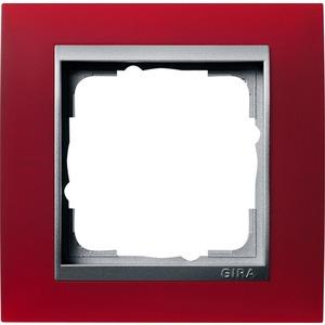 1-fach Abdeckrahmen für Aluminium Event Opak rot