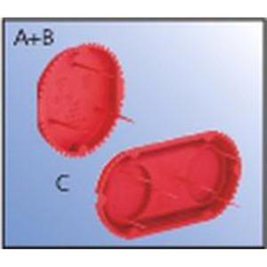 Signal-Deckel 1181-60 Kunststoff rot Durchmesser 60 mm