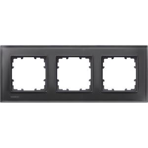 3-fach Glas Rahmen DELTA miro Glas schwarz 232x90mm