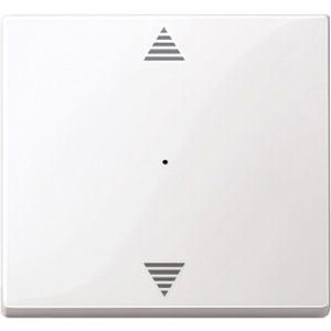 Wippe f. Taster-Modul 1-fach (Pfeile Auf/Ab) polarweiß glänz.
