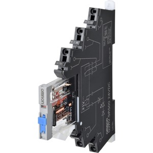 Industrierelais 6mm + Sockel 1 Wechsler 6A Push-In Plus 24V DC Prüfta.