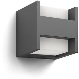 Wandleuchte Arbour LED 2x4,5W 800lm warmweiß IP44 anthrazit