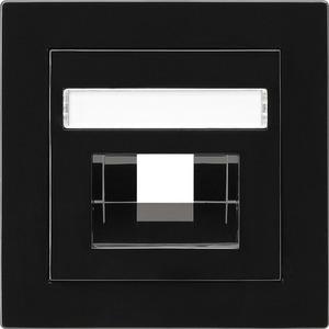 Abdeckung beschriftbar für UAE/IAE/ISDN für S-Color schwarz