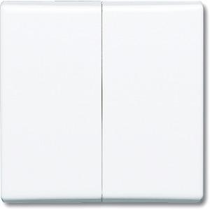 Wippe für Serien Wechsel/Wechsel Doppeltaster cremeweiß glänzend