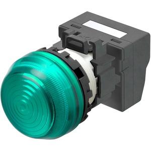 Leuchtmelder M22N Kunststoff sphärisch Grün 24V Push-In Plus