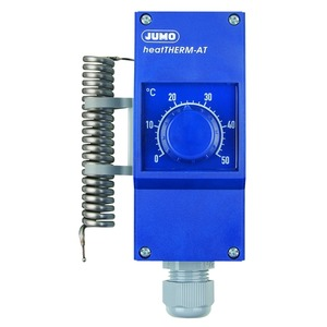 Aufbau-Raumthermostat 230VAC 16A - 0 - 50°C Wendefühler 17mm CrNi