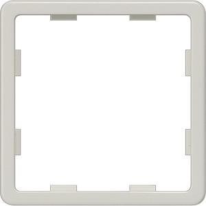 Zwischenrahmen Delta profil titanweiß für Zentralplatte 55x55mm